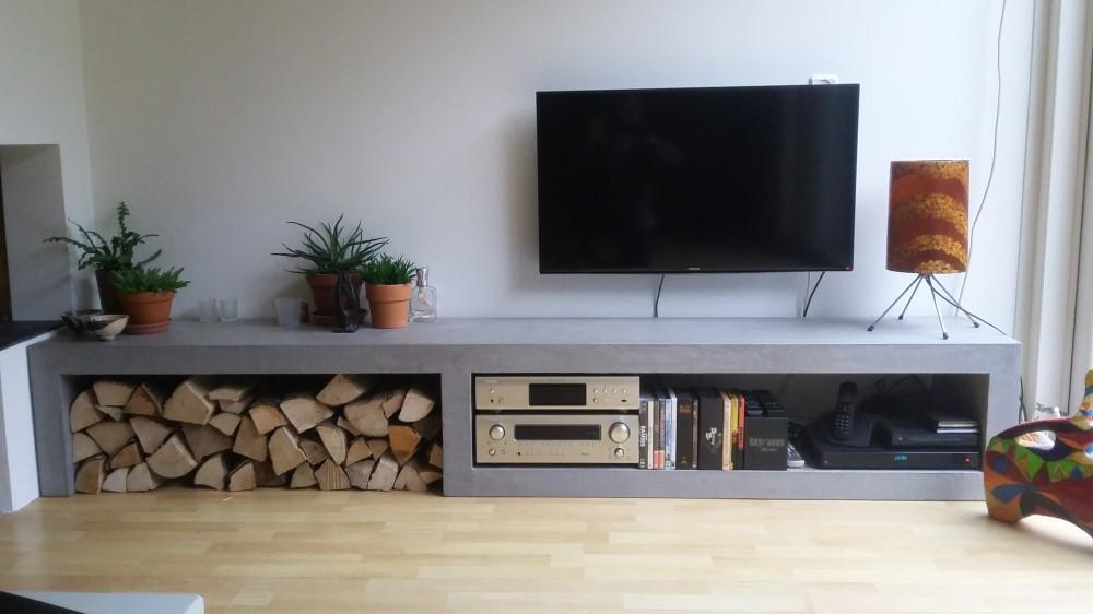 Betonlook Tv Meubels Op Maat In Elke Vorm Stijl En Kleur